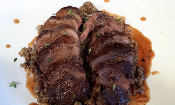 How to Pan-Sear Wild Duck Breast the Right Way, and a Sauce to Go with It