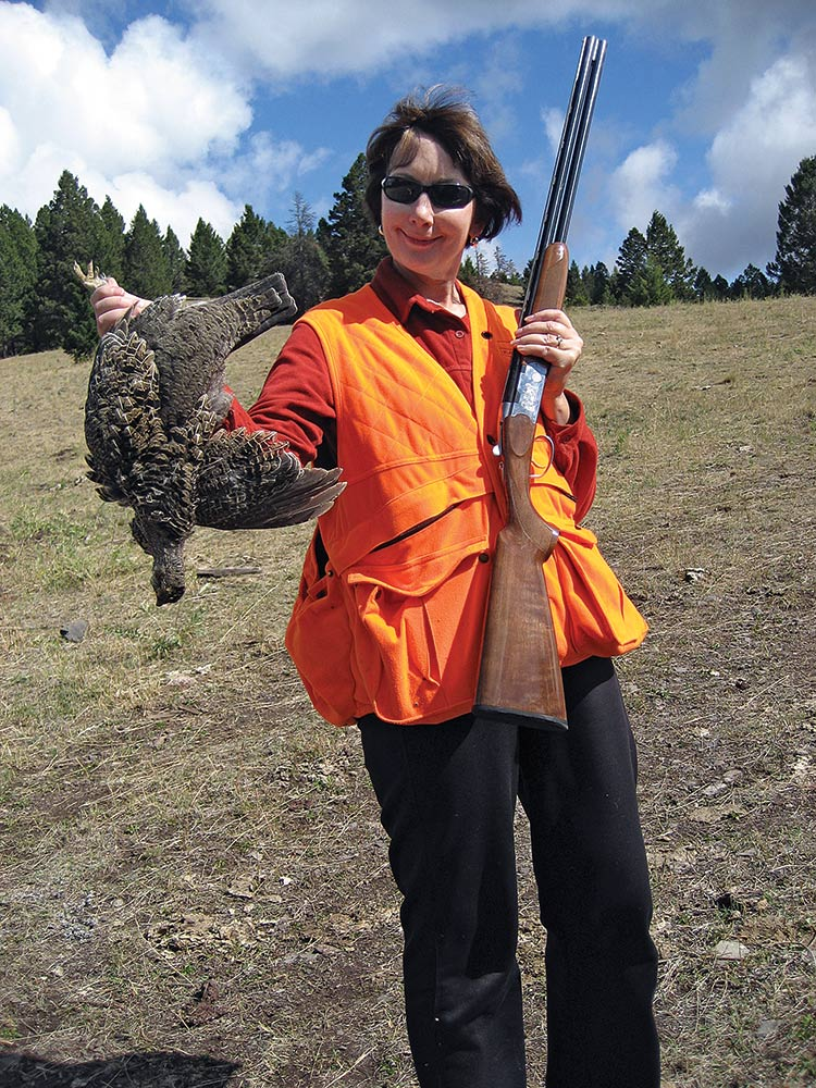 Grouse hunting with a 20-gauge load.