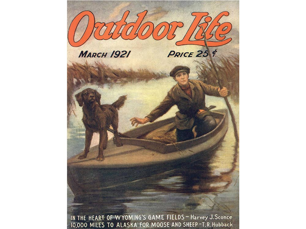 March 1921 cover of Outdoor Life