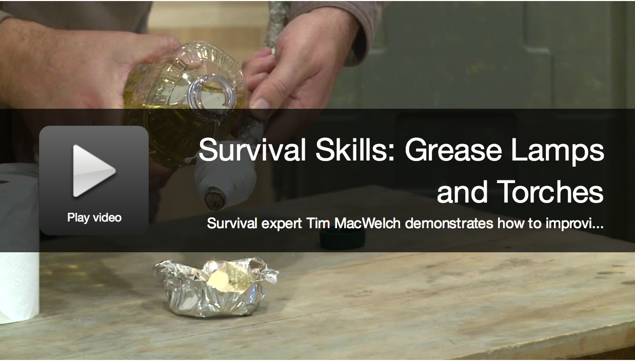 Survival Skills: How to Make Improvised Grease Lamps and Torches