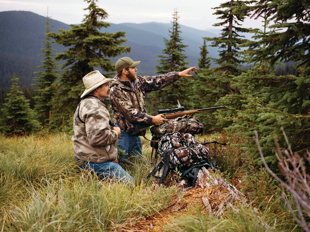 Ty and Bill Bell bear hunting
