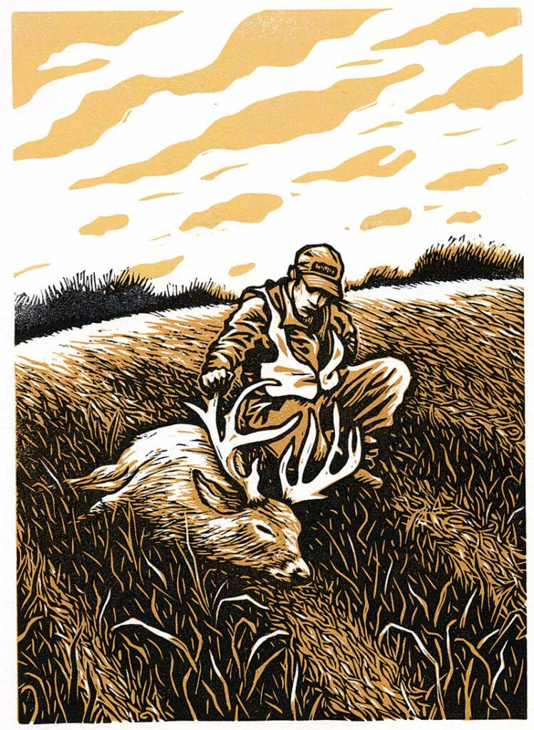 Andrew McKean hunting the deer of a lifetime illustration