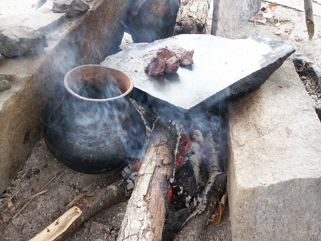 clay earthenware by fire