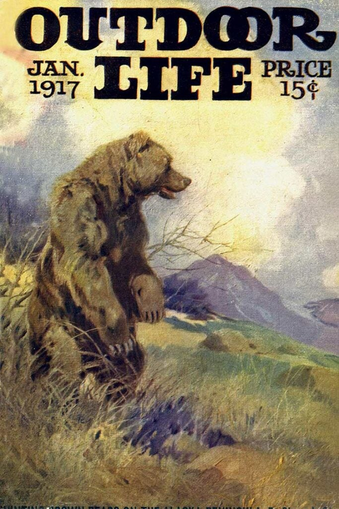 Cover of the January 1917 issue of Outdoor Life