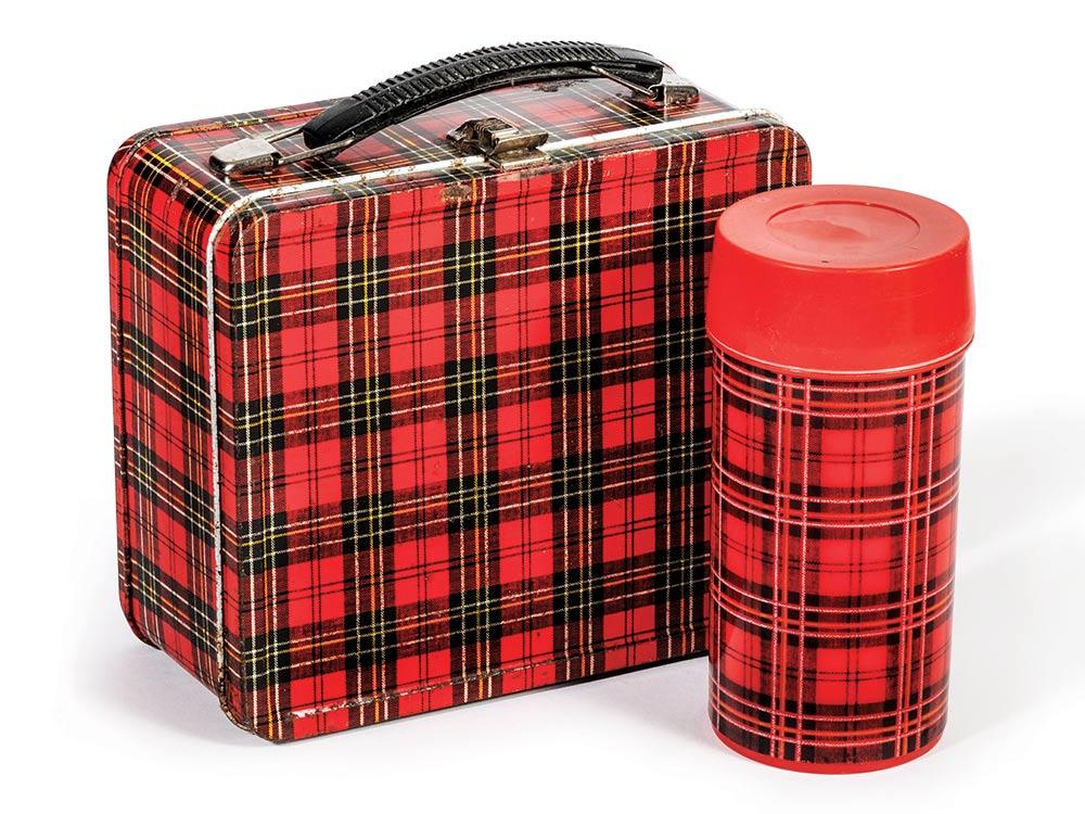 Plaid lunch box