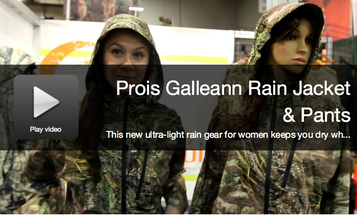 New Hunting Gear: Prois Galleann Rain Jacket and Pants for Women