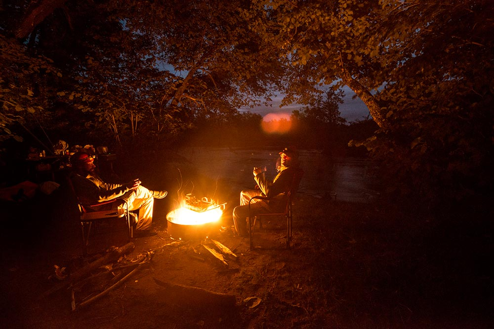 campfire at night ol guide life