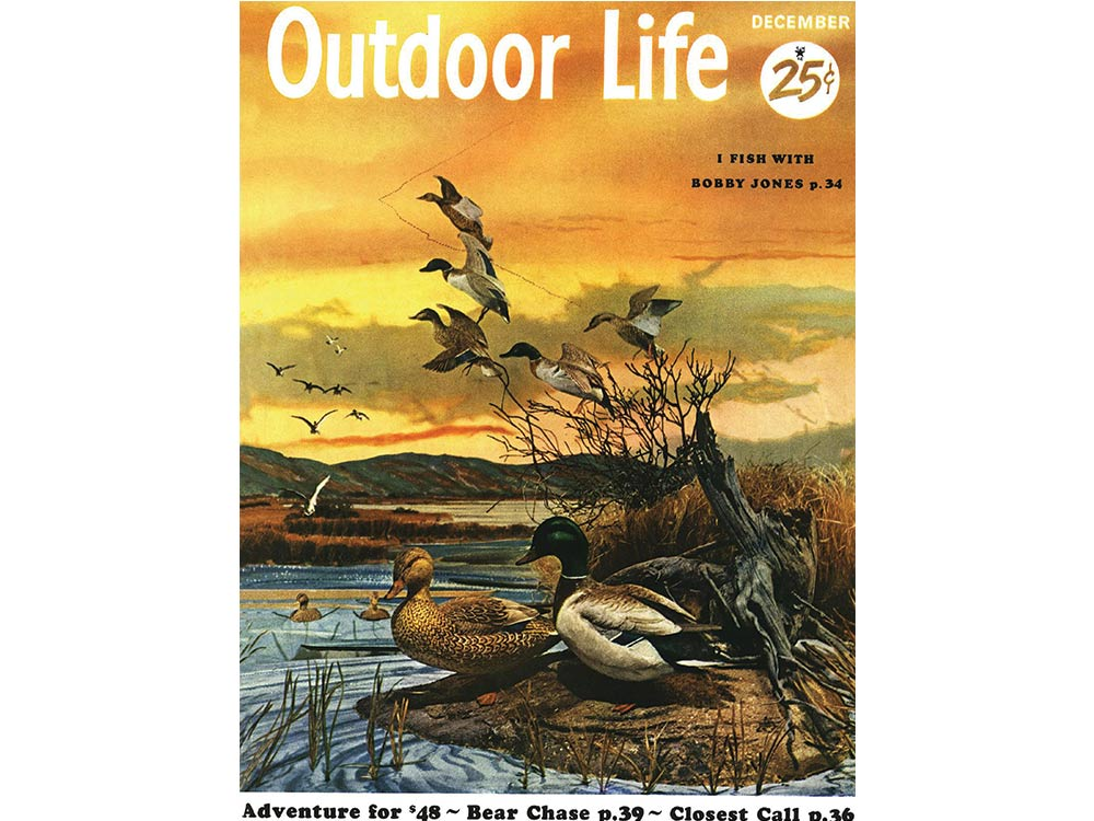 December 1954 cover of Outdoor Life