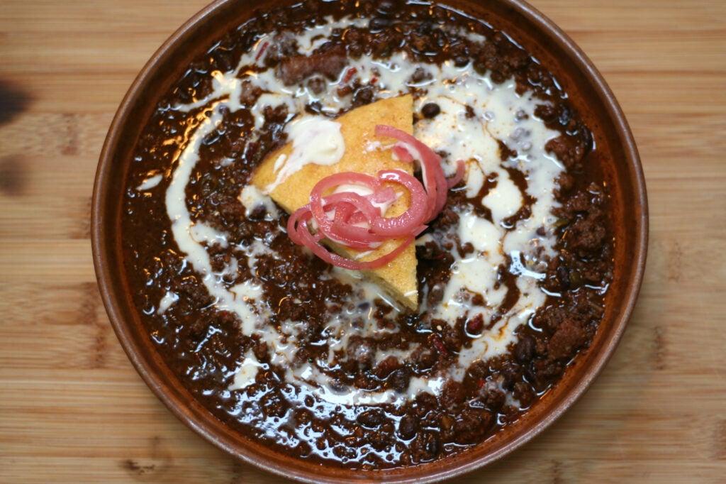 bowl venison chili