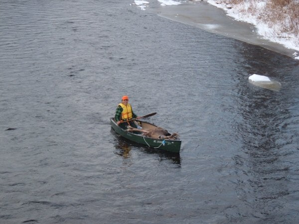 Transport by canoe.