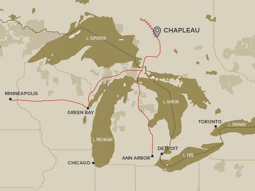 michigan lakes train routes