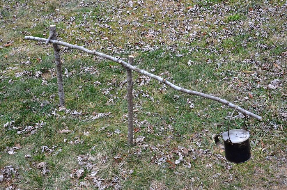 stick crane for campfire