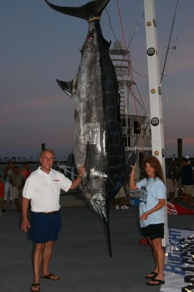 Female Angler Lands 843-Pound Blue Marlin, Breaks Tournament Record