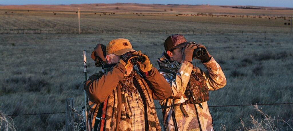 Clay Owens and Al Morris glassing coyote