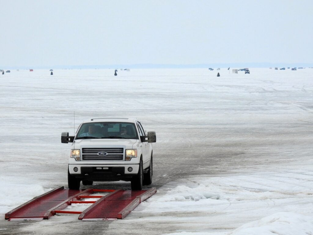 driving on the ice