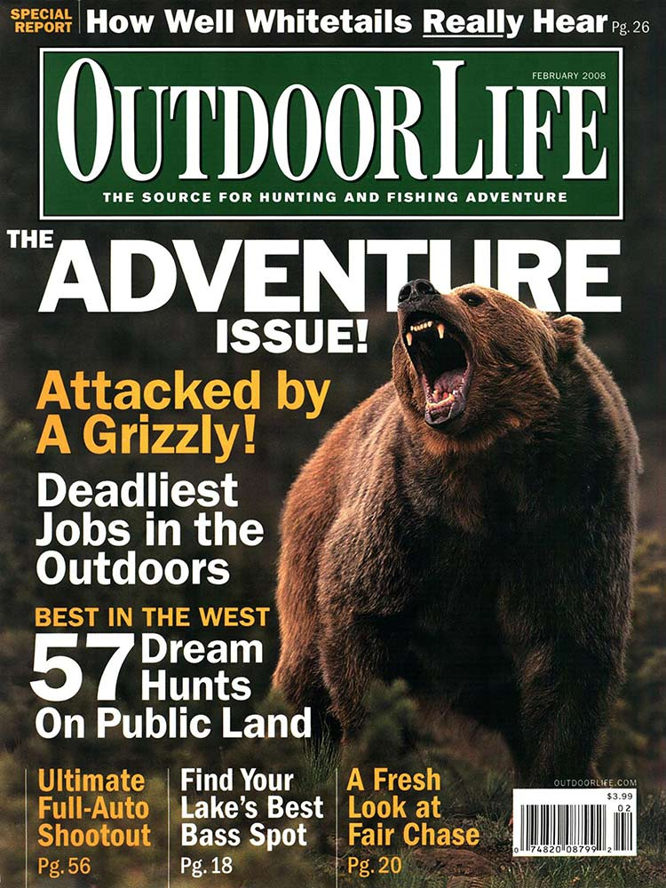 February 2008 Cover of Outdoor Life