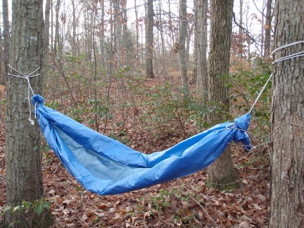 Survival Skills: How To Build A Tarp Hammock