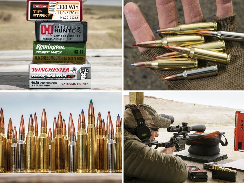 collage of ammo use in outdoor life's 2018 gun test