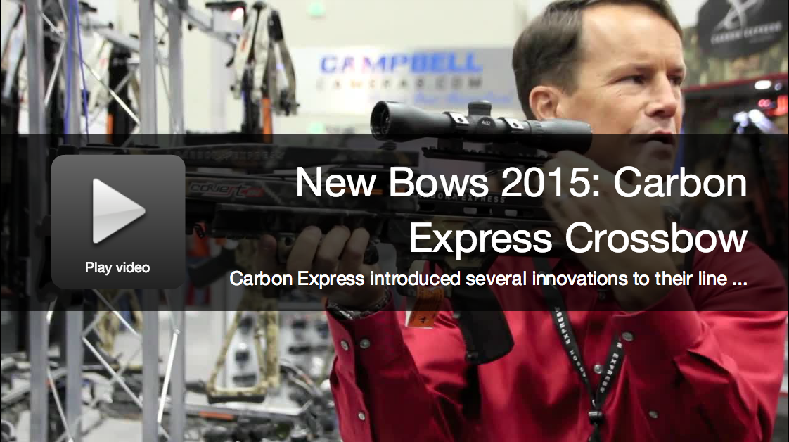 New Bows 2015: Carbon Express Crossbow