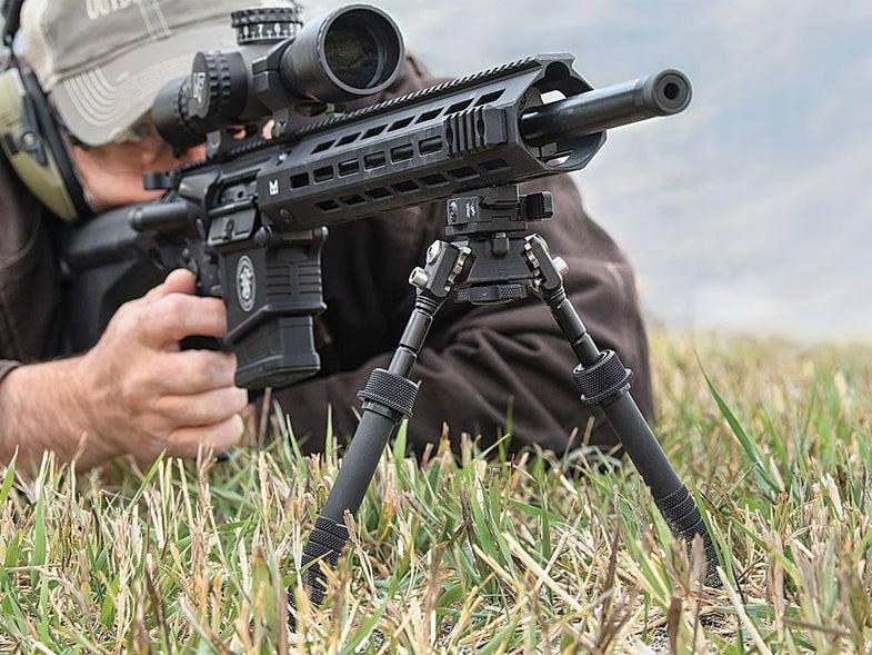 AR Rifle bipod for long-range shooting