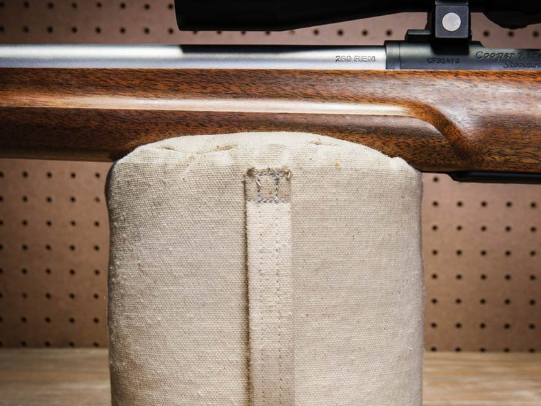 how to sew a shooting bag
