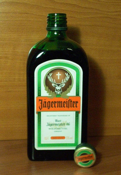 a bottle of jagermeister