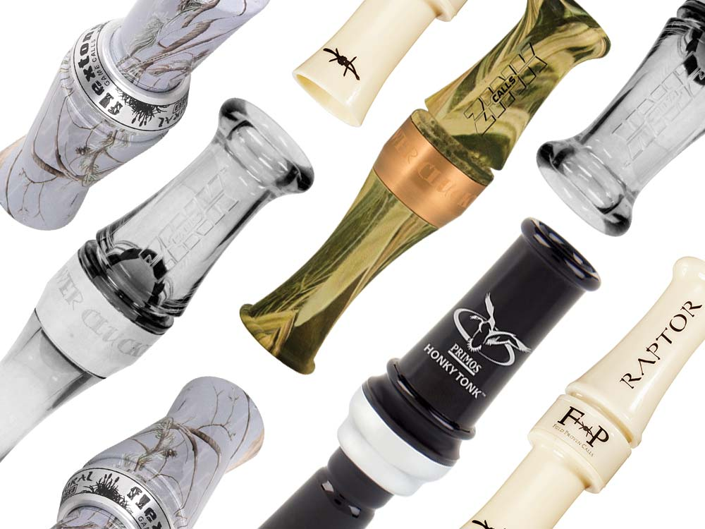collage of short reed goose calls