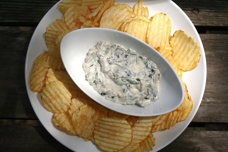 chips and ramp bacon dip