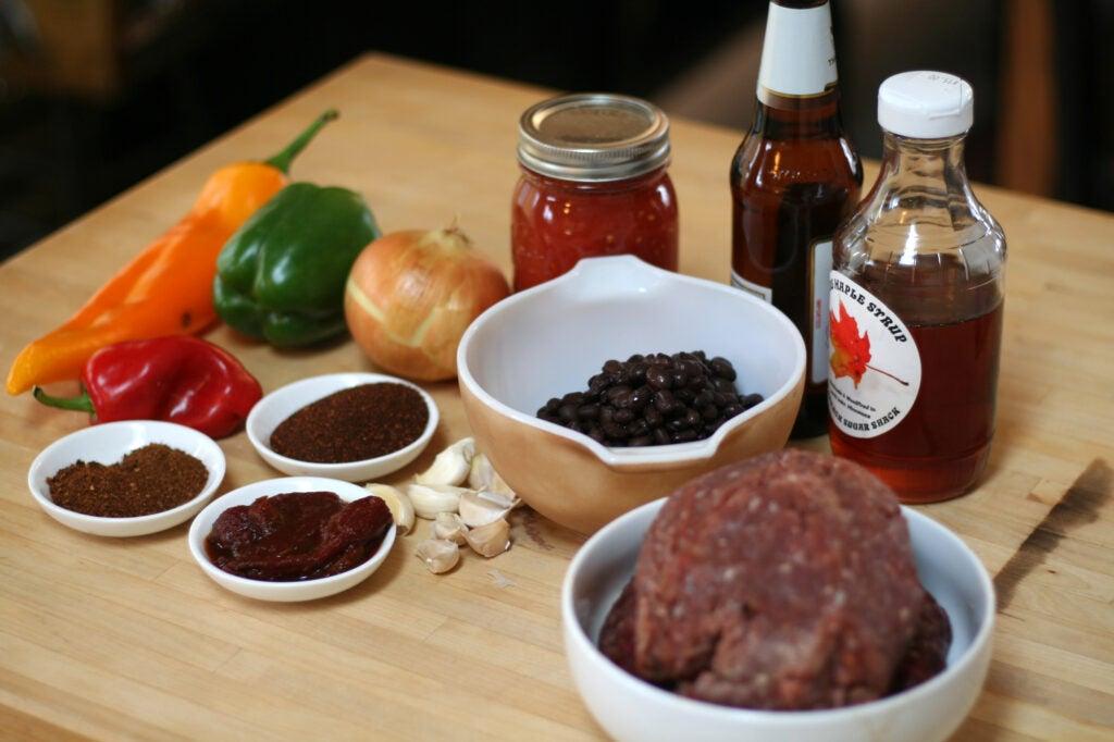 venison chili ingredients