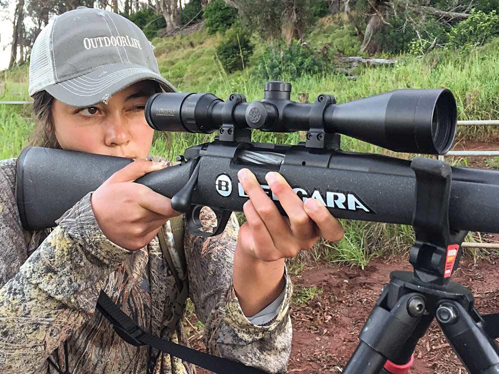 Iris takes aim with a Bergara B-14