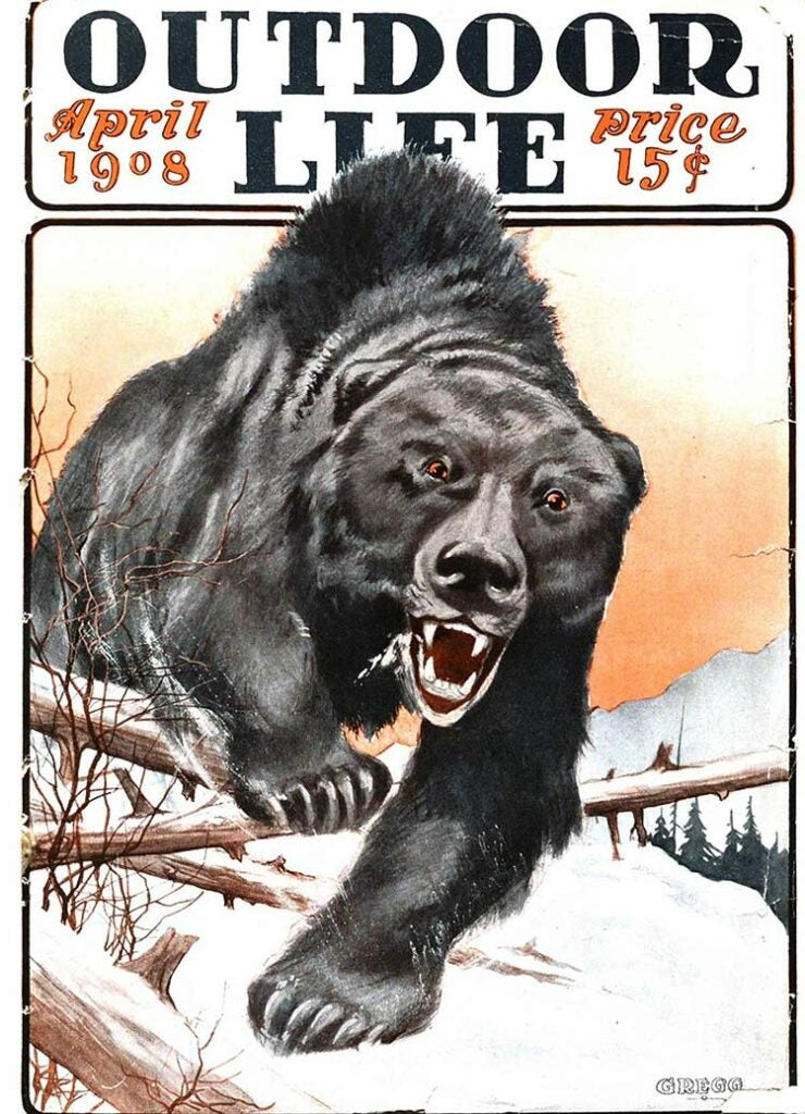 Cover of the April 1908 issue of Outdoor Life