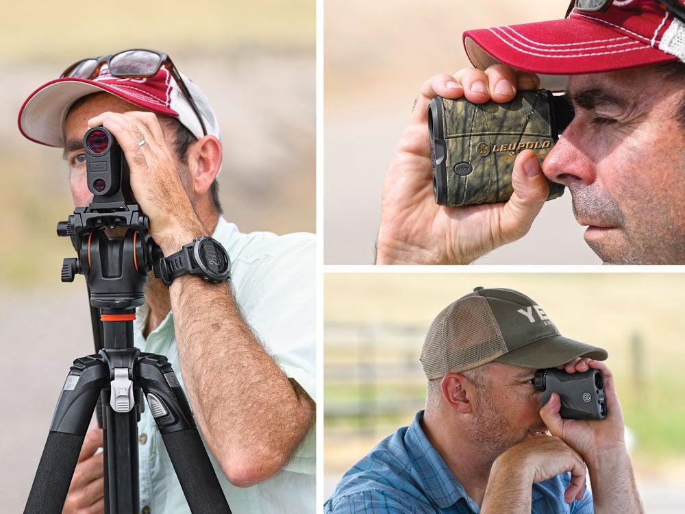 Outdoor Life editors testing rangefinders