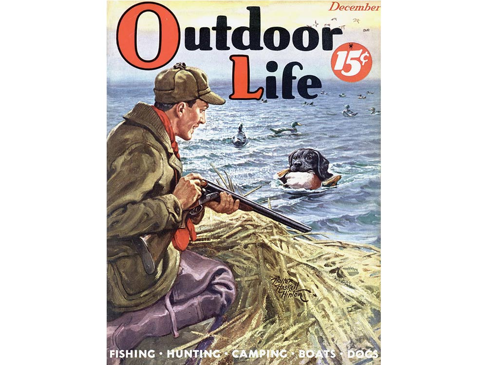 December 1938 cover of Outdoor Life
