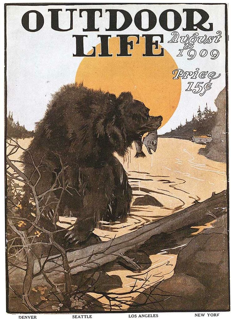 Cover of the August 1909 issue of Outdoor Life