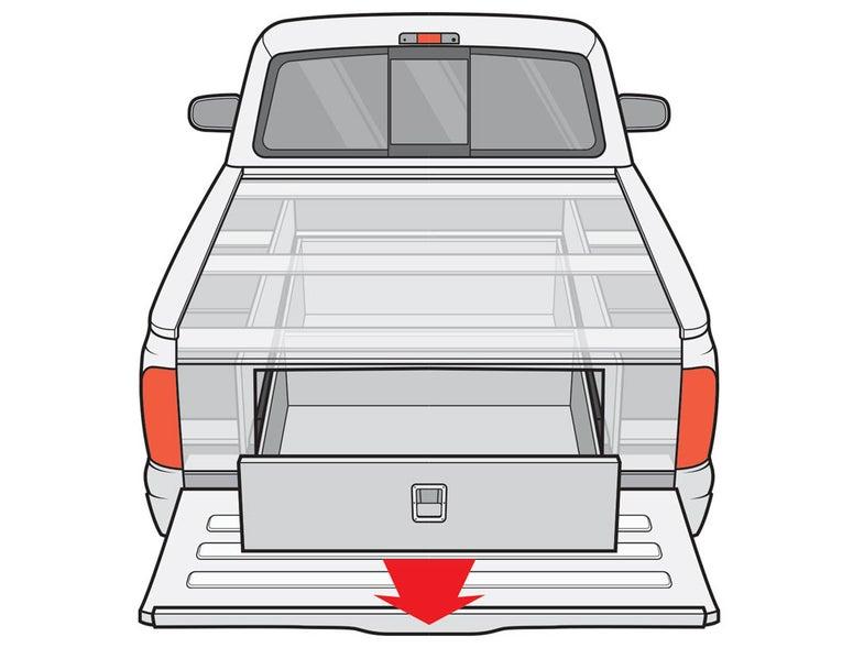 diy truck bed storage system
