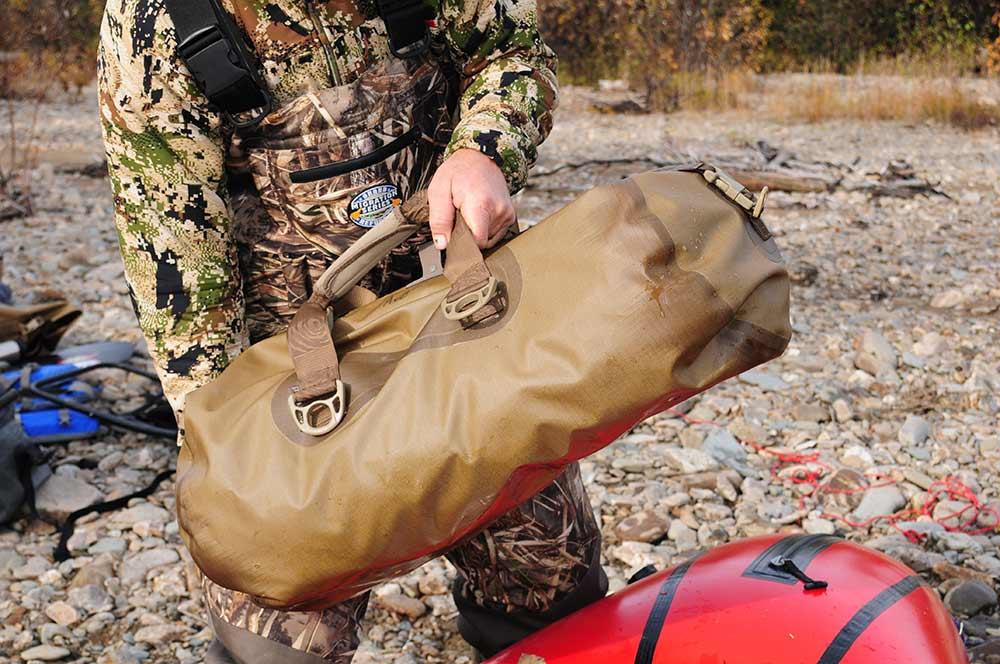 hunter hoisting dry bags