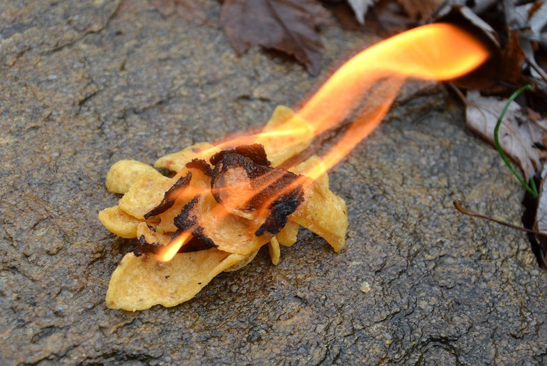 burning fritos fire starters