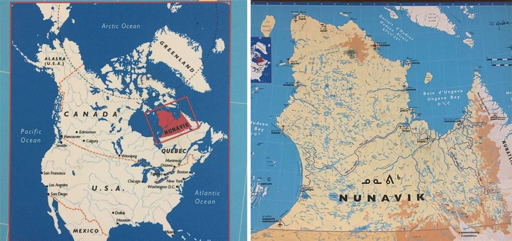 Ungava peninsula maps