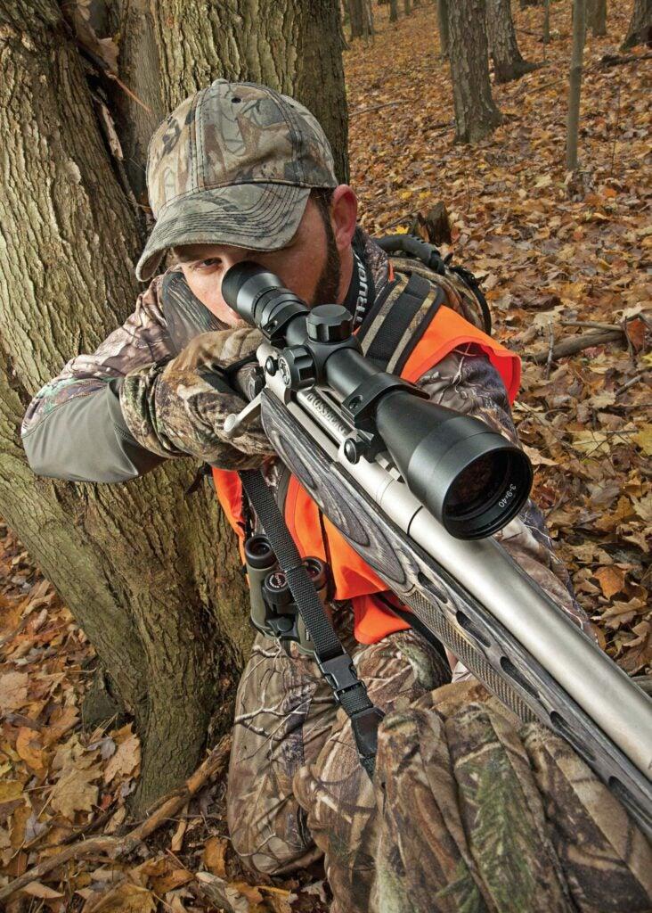 deer hunter with bolt action