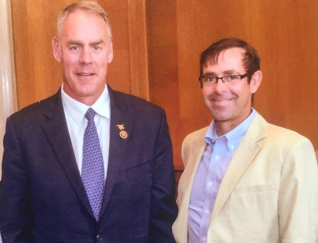 Secretary of Interior Ryan Zinke and Outdoor Life Editor Andrew McKean