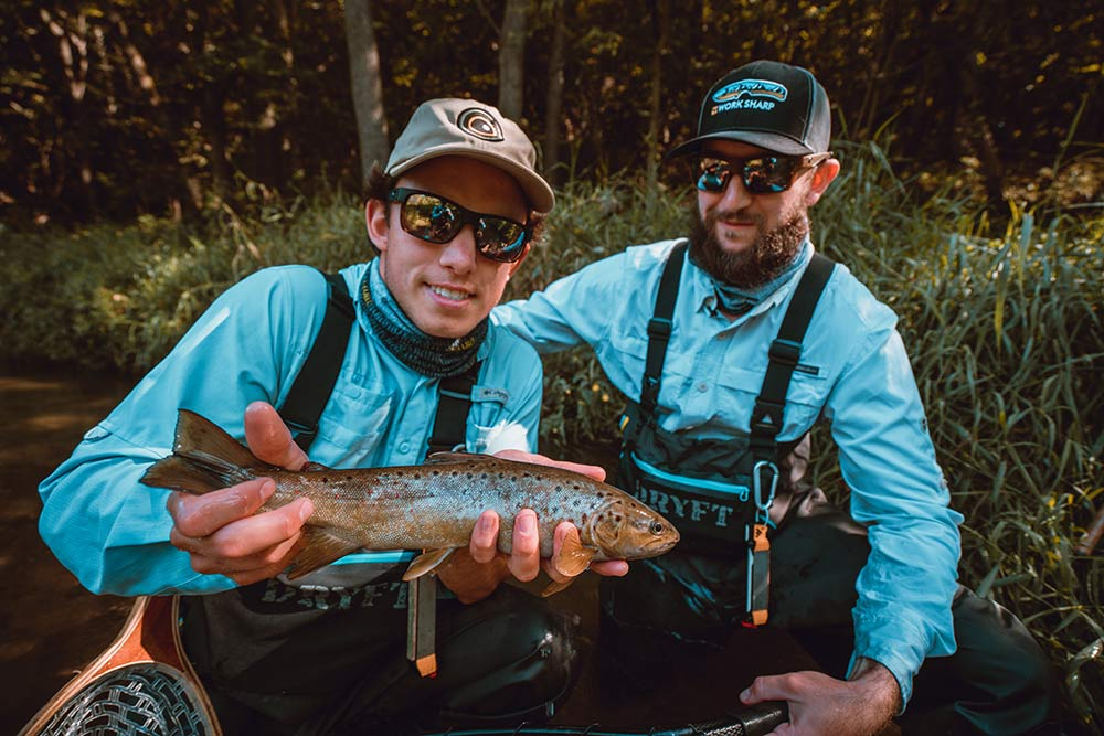 two fisherman fishing for trout in the Driftless