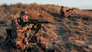Morris and Young hunting coyotes in Nebraska