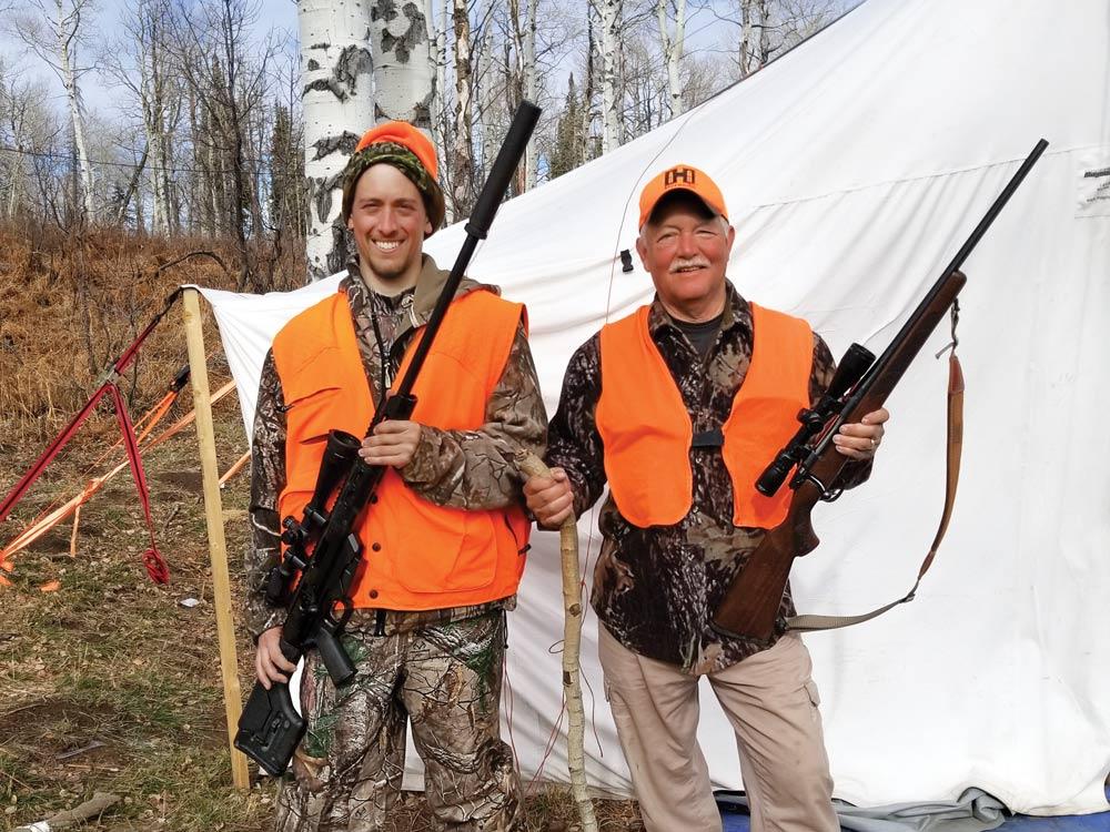 Bruce Beaman and Joe Byers hunting elk