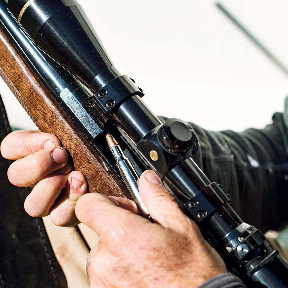 loading ammo in a browning x-bolt rifle