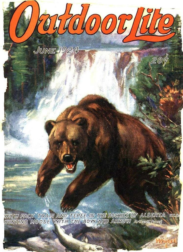 Cover of the June 1924 issue of Outdoor Life