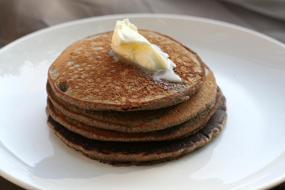 Acorn-flour pancakes