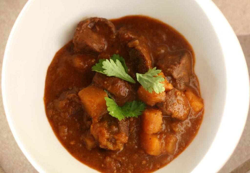 wild duck and squash curry