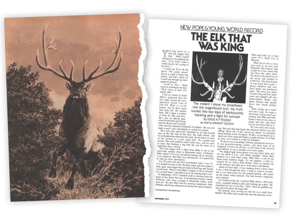 outdoor life elk story september 1977