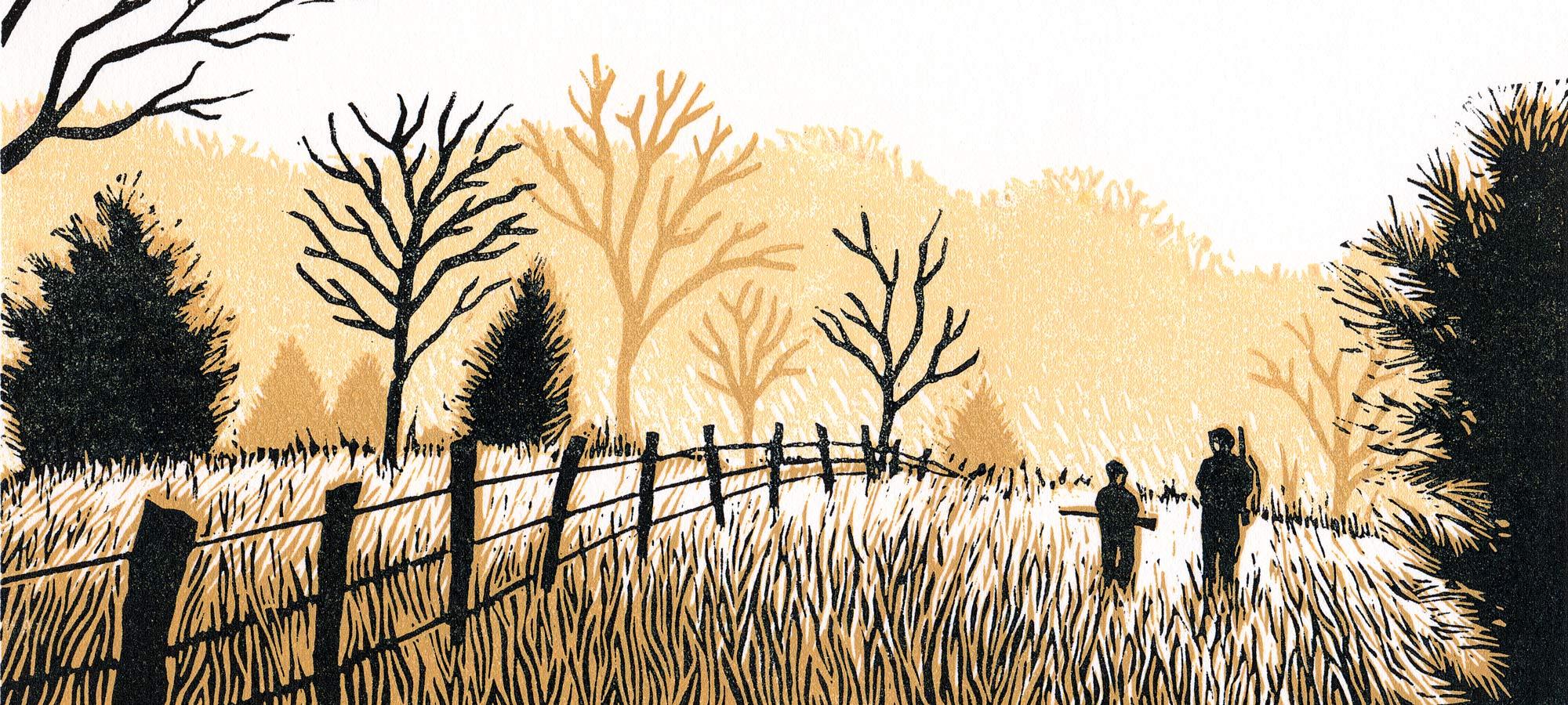 Buck hunting illustration
