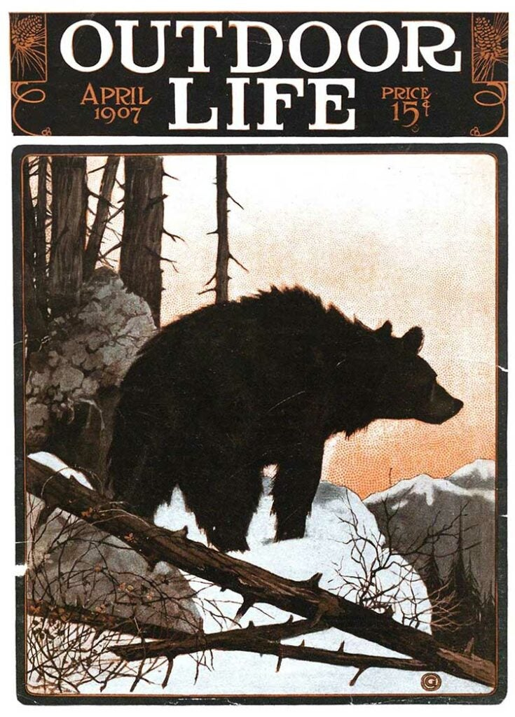 Cover of the April 1907 issue of Outdoor Life